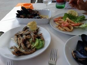 lunch marina corricella procida island italy