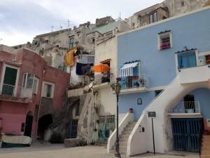 fishermen's houses marina corricella procida island italy