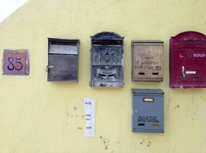 letterboxes procida island italy