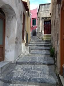 streets of marina corricella procida island italy