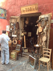 antique shop Procida island Italy