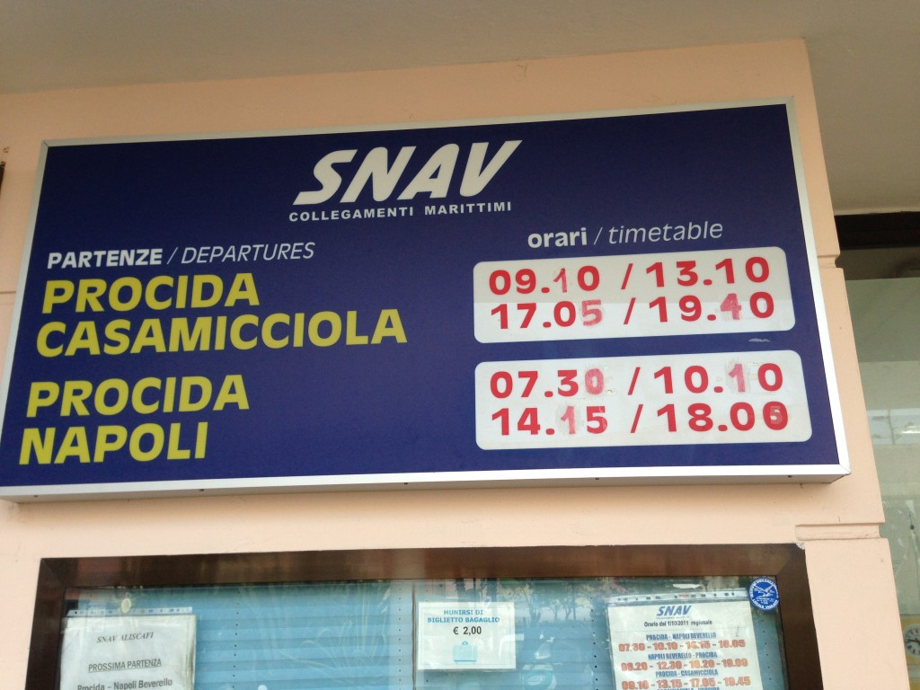 ferry timetable procida