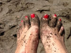 black sand procida island italy