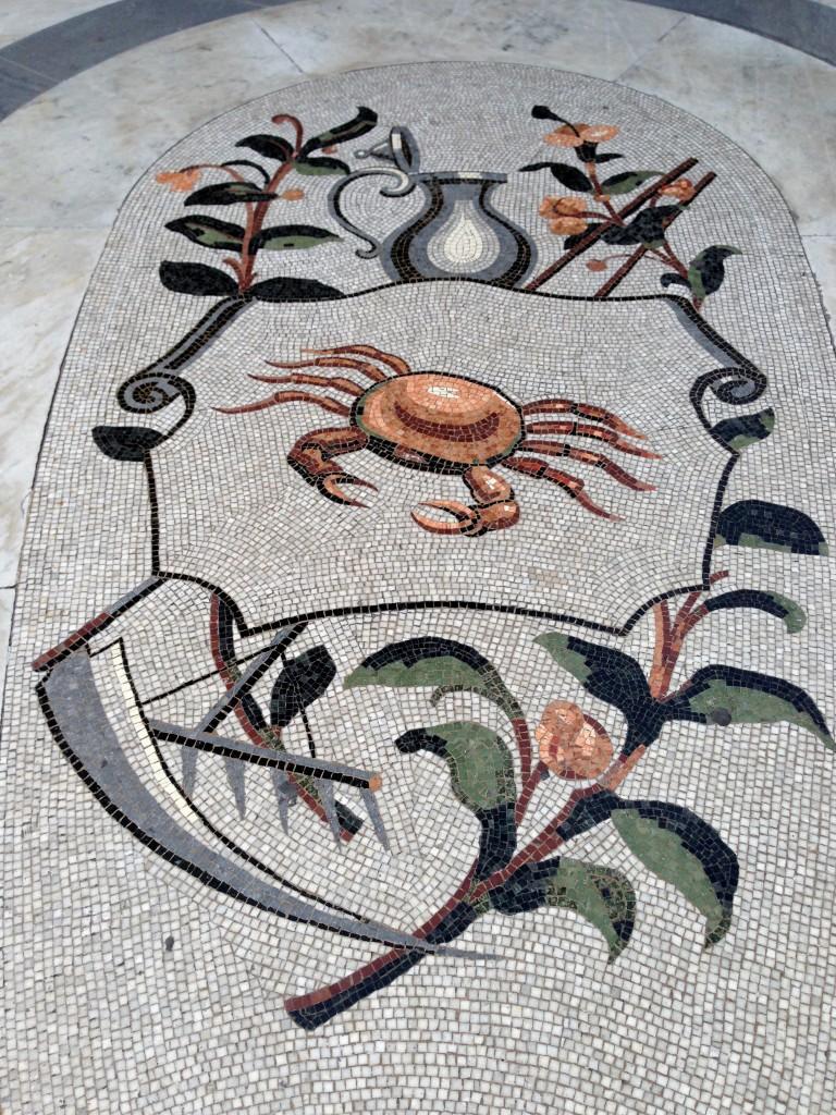 zodiac mosaic floor galleria Umberto I Naples
