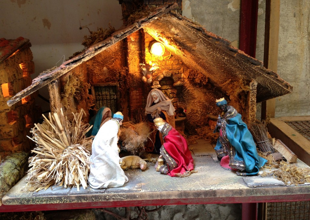 nativity scenes in via Gregorio Armeno  Naples