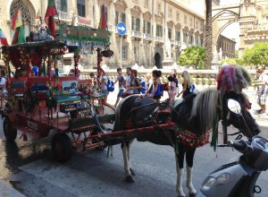 Traditional horse & cart in Palermo, Sicily