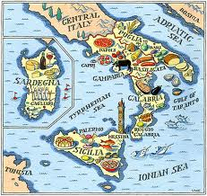 map southern italy