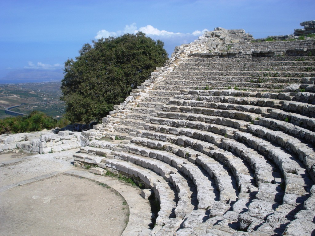 Greek theatre in Segesta Sicily