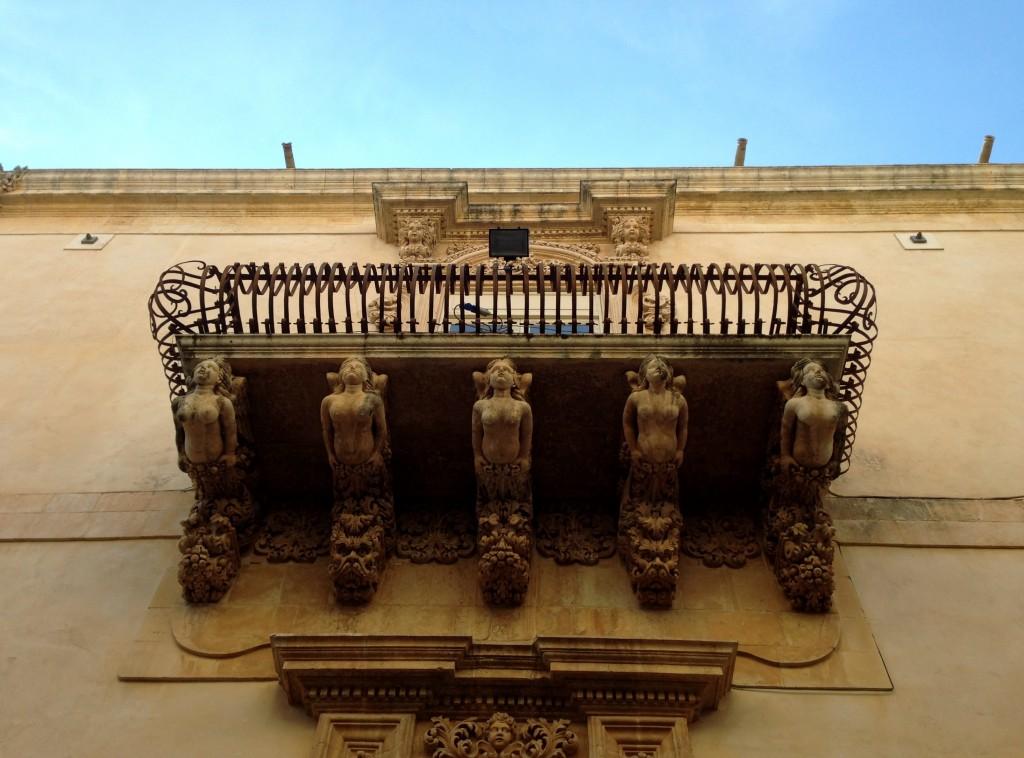 baroque balcony noto sicily