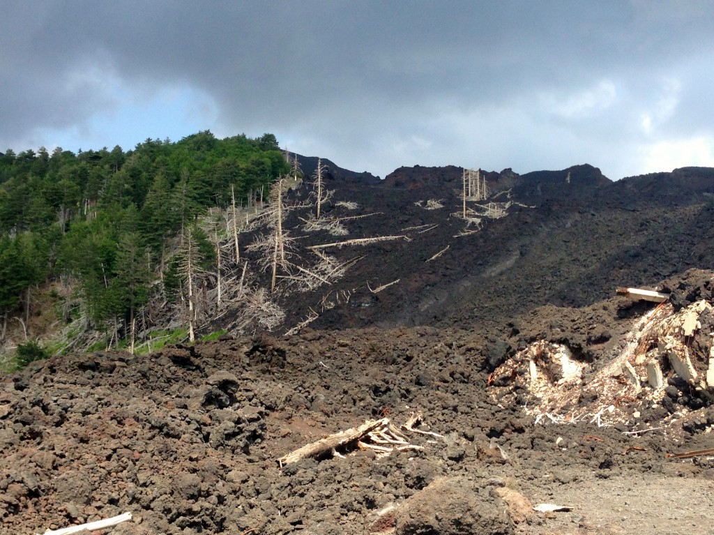 old lava flow mt etna sicily