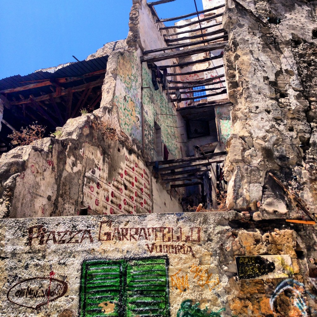 Palermo Sicily abandoned building