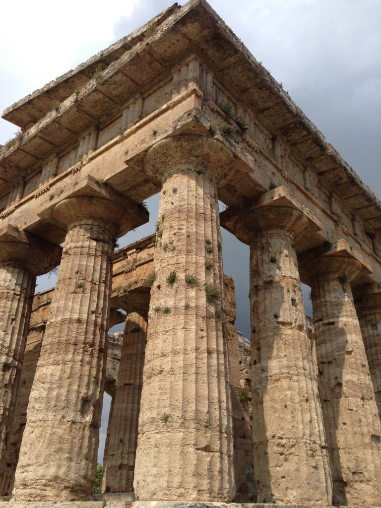 Greek temple Paestum Campania Italy