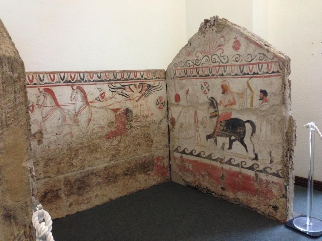 tomb  Paestum Campania Italy