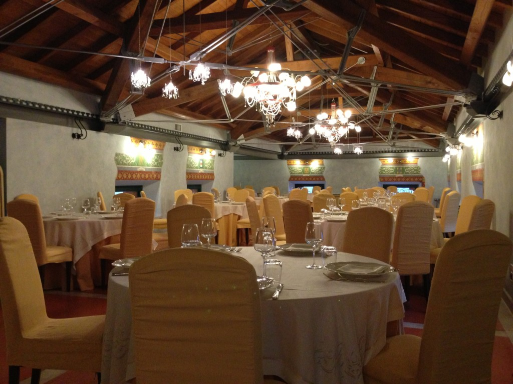 lonely restaurant Teggiano Campania Italy