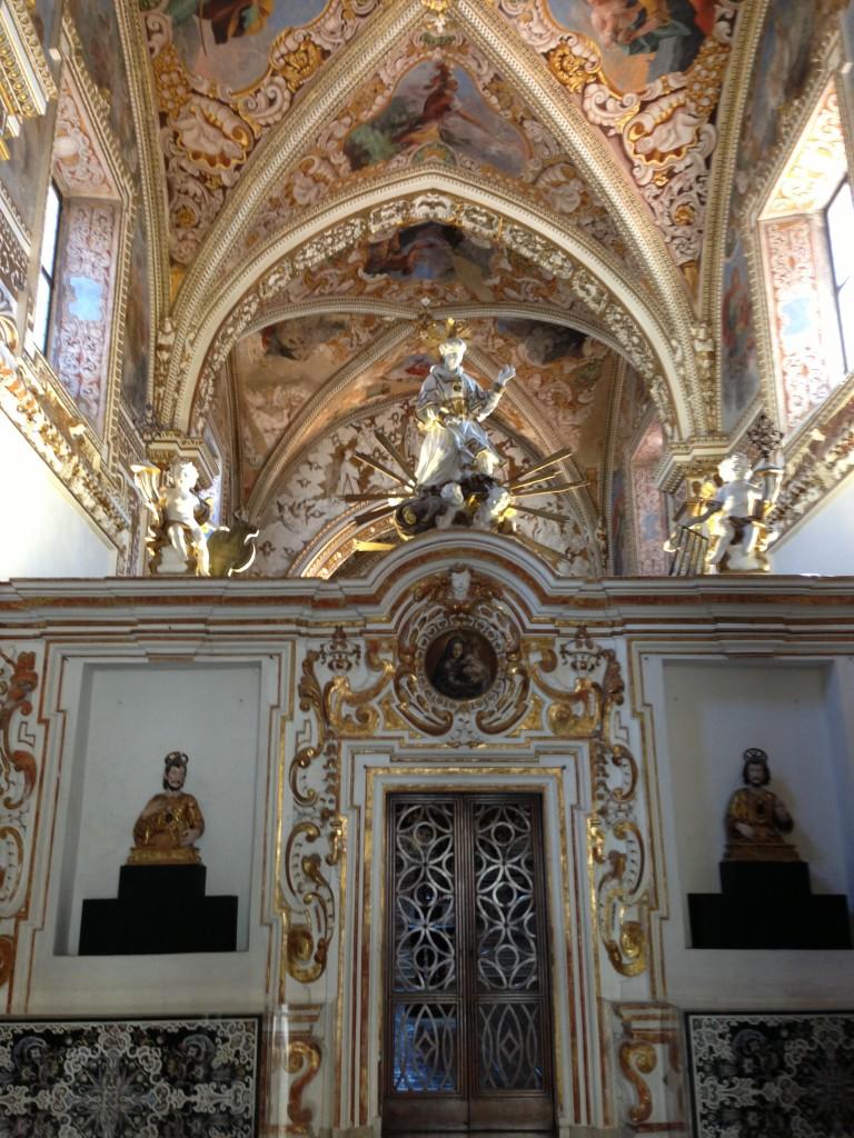 church interior  Certosa di San Lorenzo in Padula, Italy