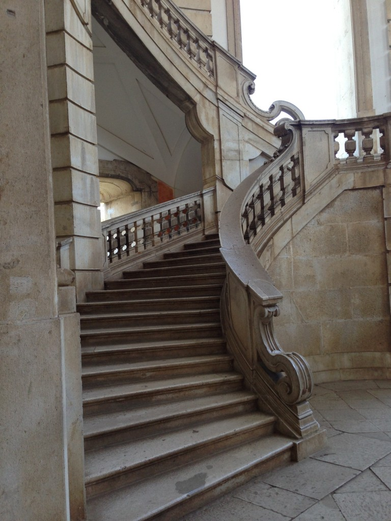 beautiful staircase  Certosa di San Lorenzo in Padula, Italy