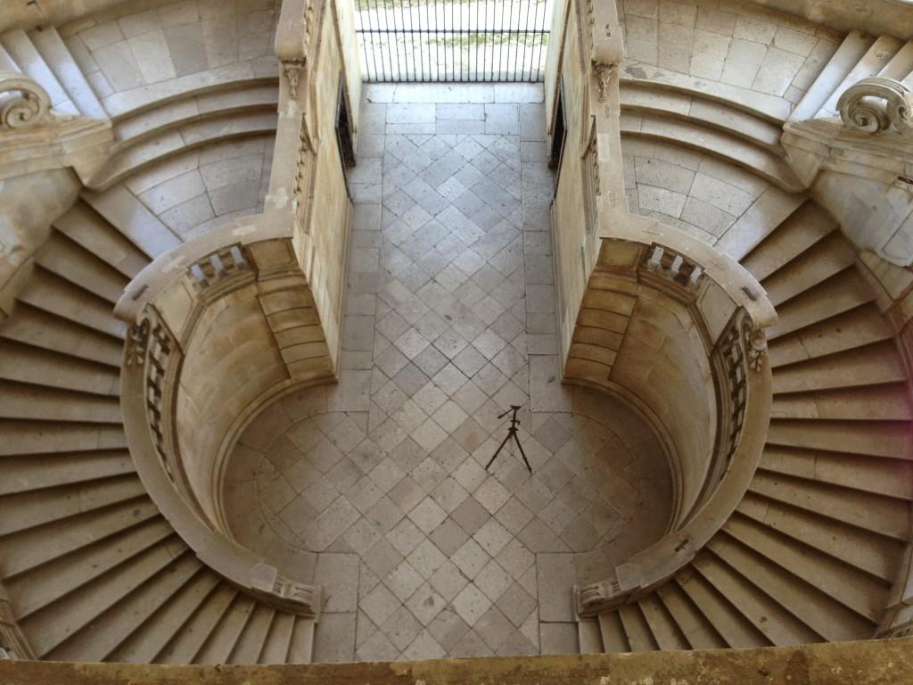 beautiful staircase  Certosa di San Lorenzo in Padula, Italy