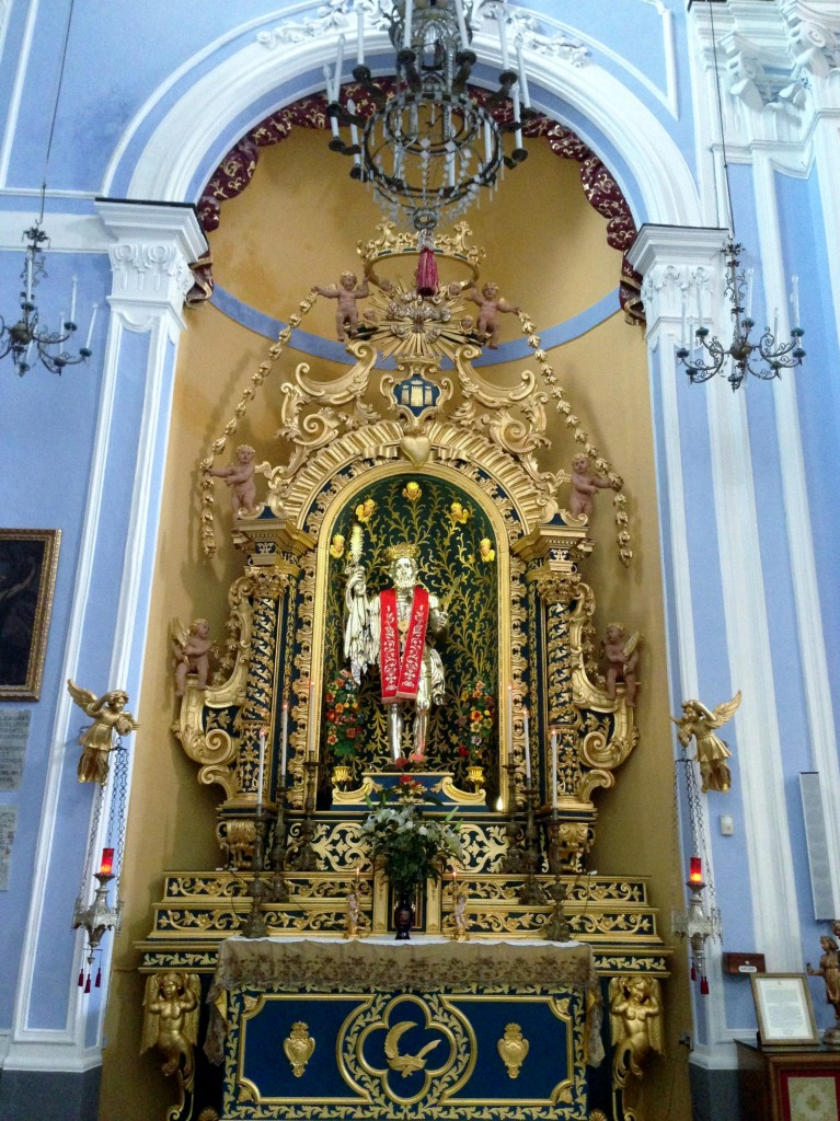 church interior Lipari Sicily