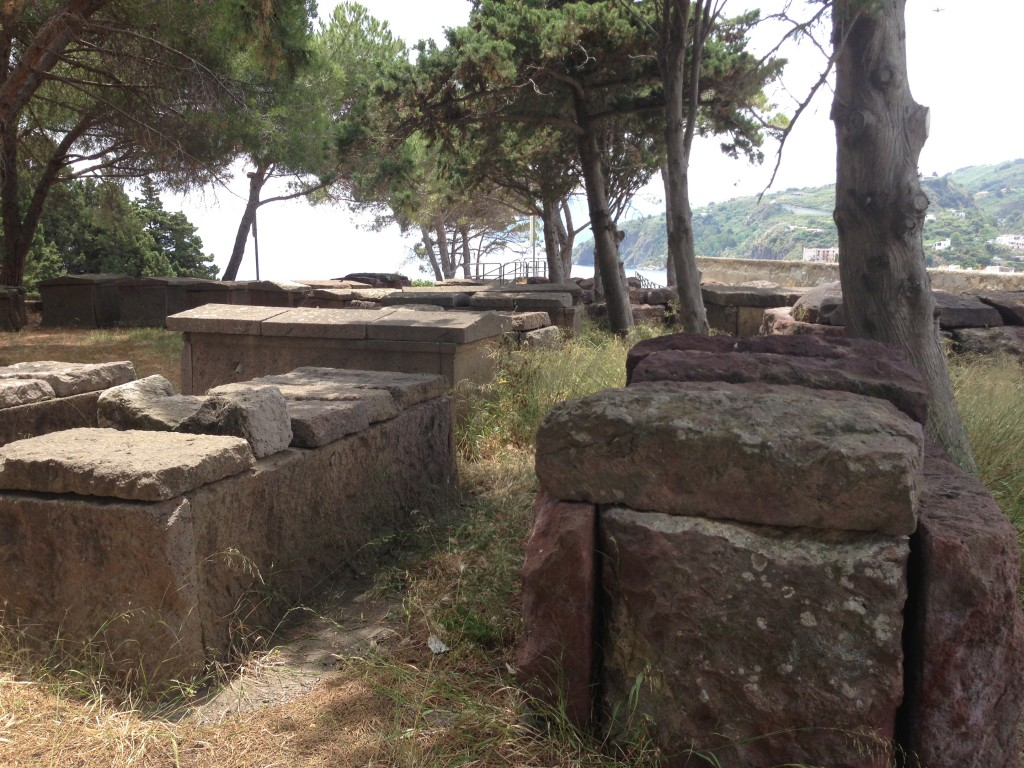 tombs parco archeologica Lipari Sicily