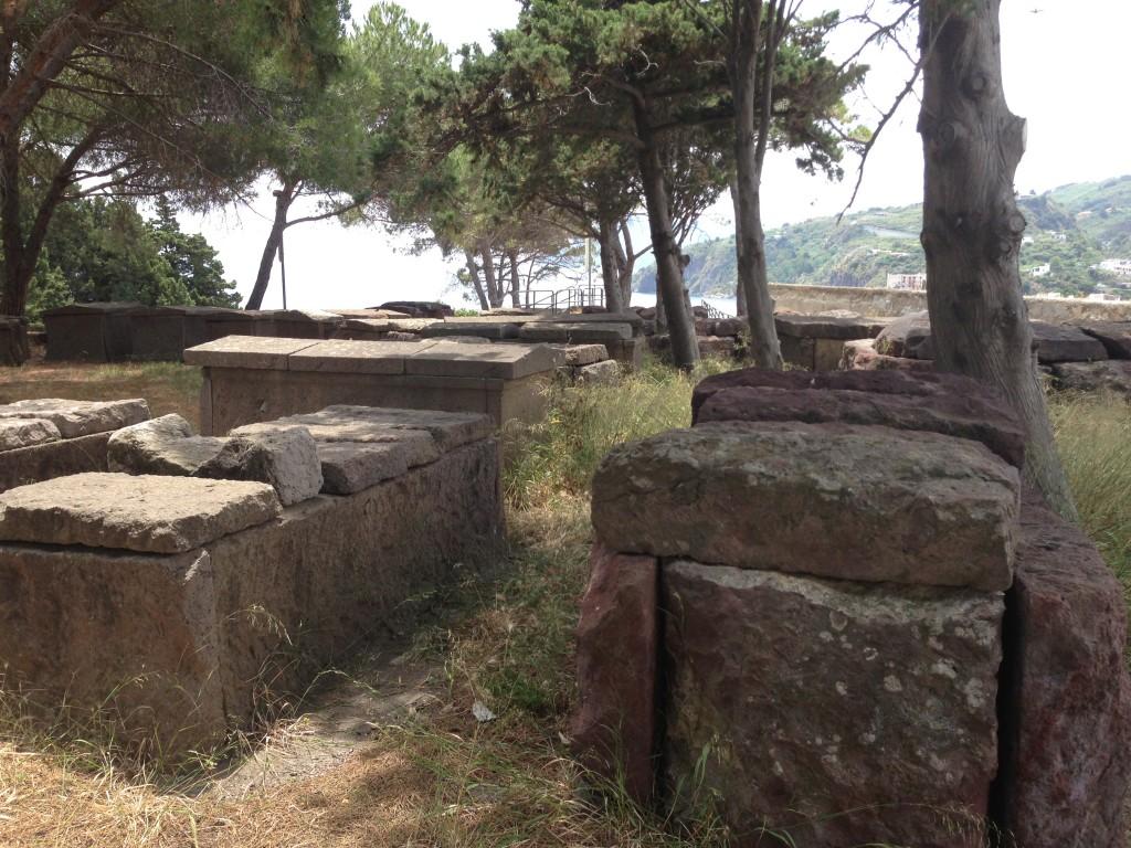 tombs parco archeologica Lipari Sicily