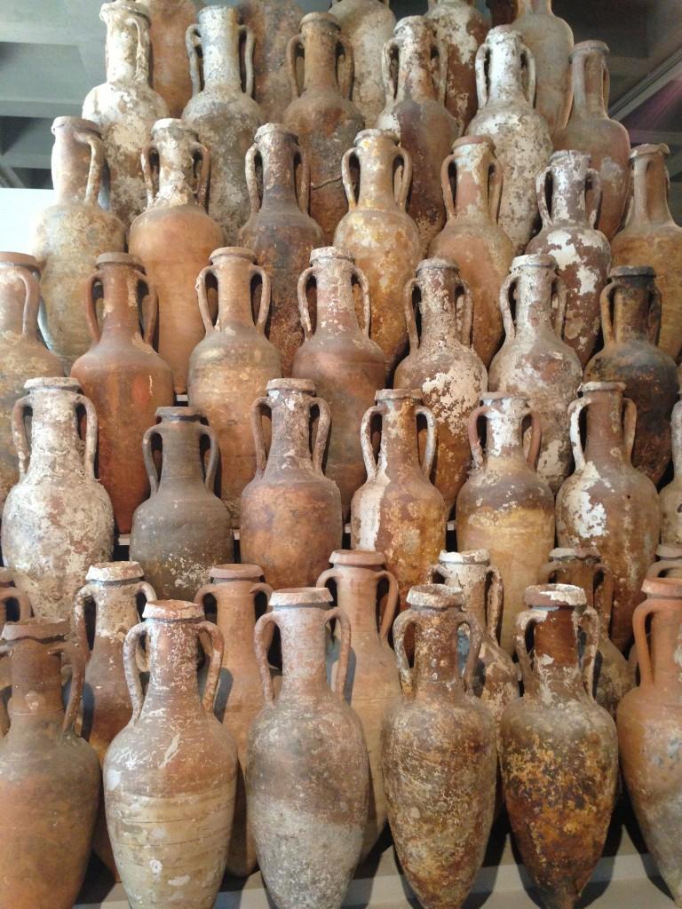 ancient pots parco archeologico Lipari Sicily