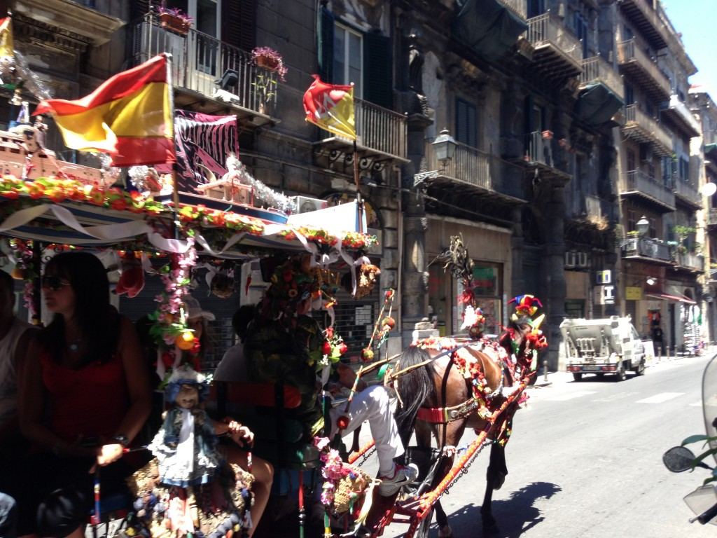 traditional horse and cart, Palermo, Sicily