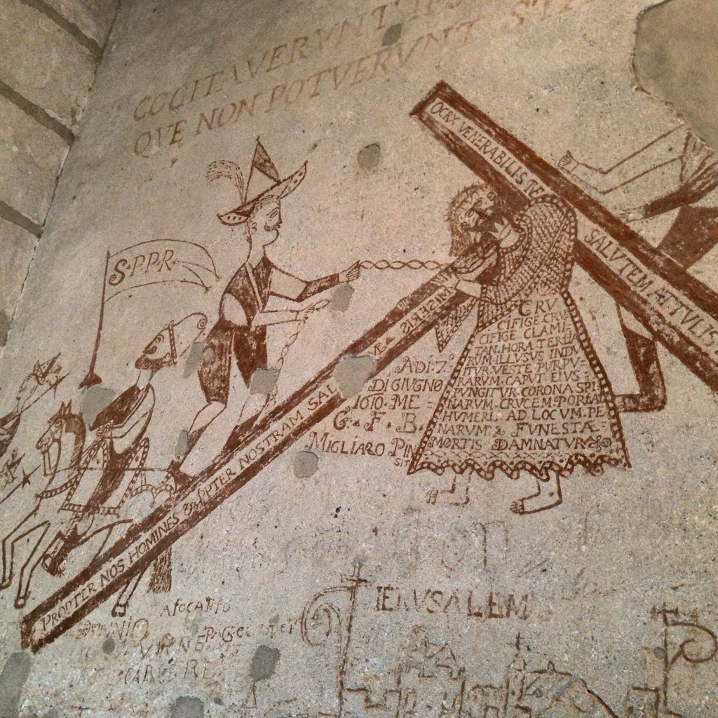 prisoner graffiti Palazzo Steri Palermo Sicily