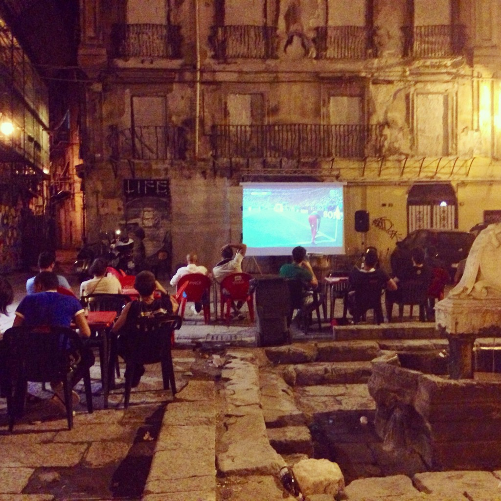 Watching the world cup in Palermo Sicily