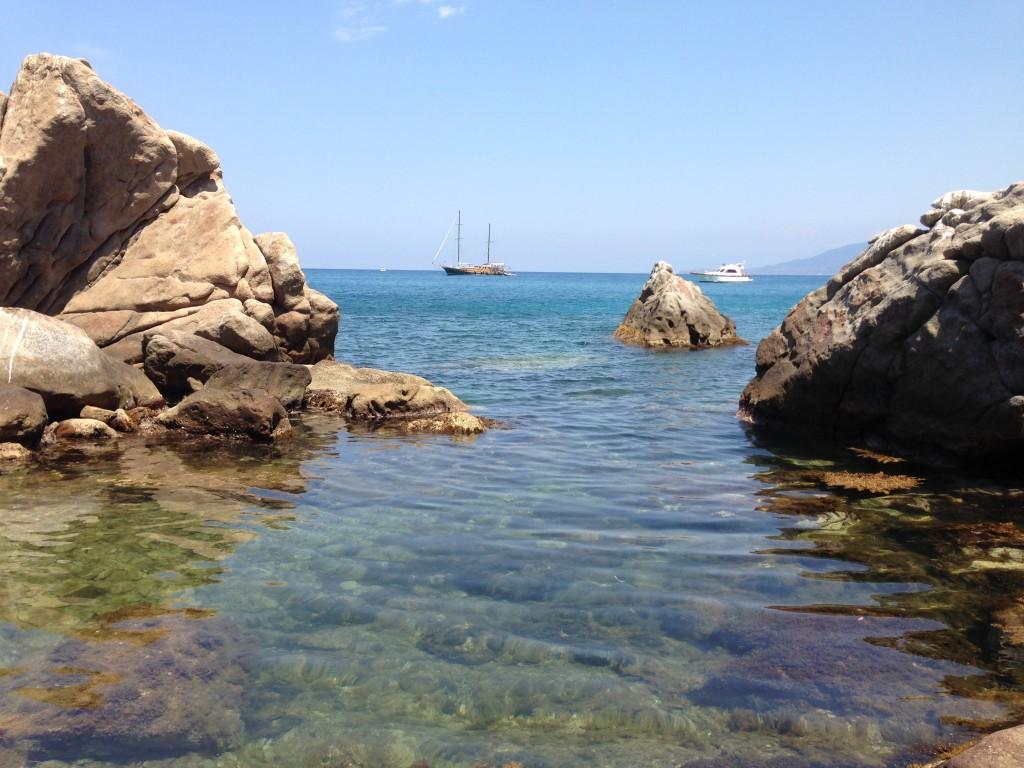 view from private beach Il Gabbiano villa Cefalu