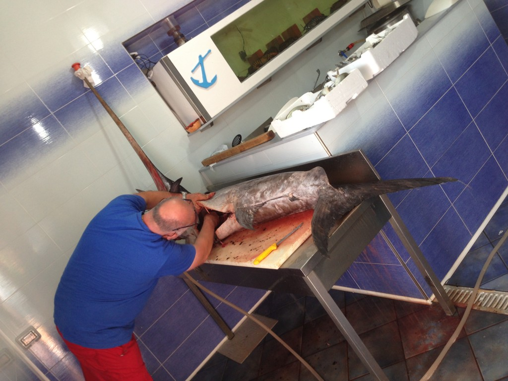 fish shop Cefalu