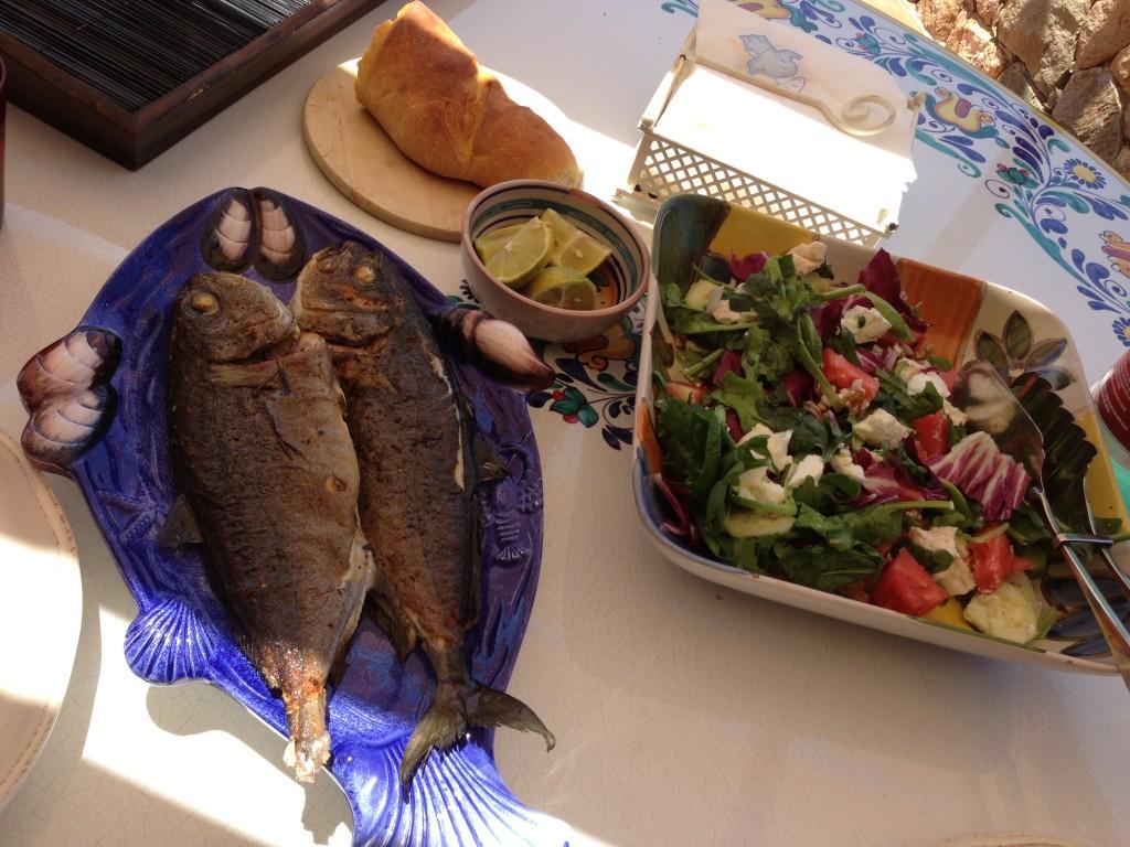 lunch Il Gabbiano villa Cefalu