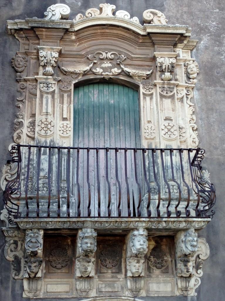 Baroque balcony Catania Sicily