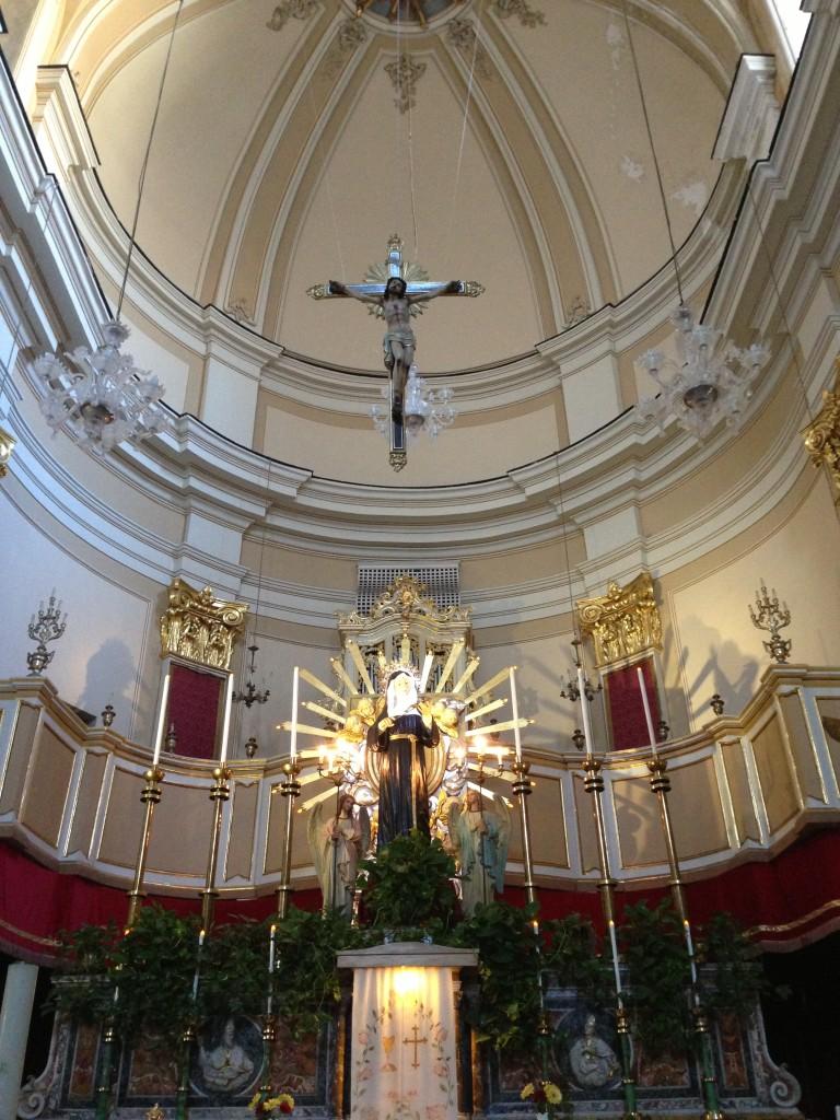 church interior Catania Sicily