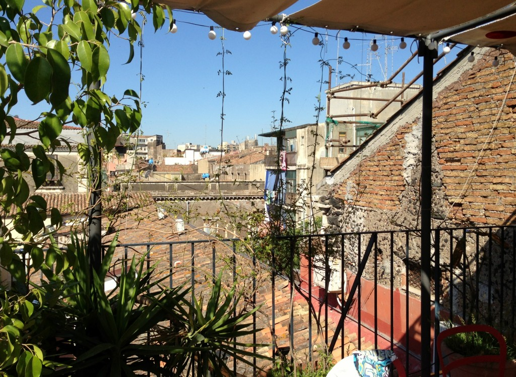 rooftop terrace BAD apartment Catania Sicily