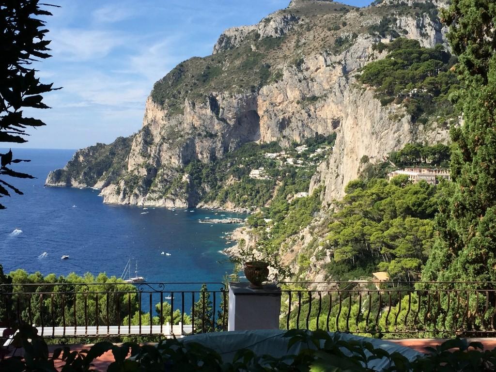 capri villa view