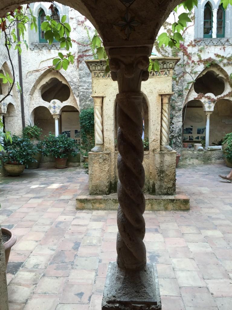 cloister, villa cimbrone, ravello