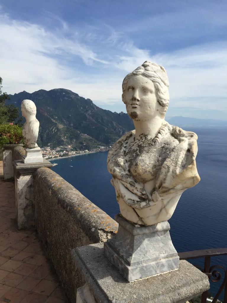 view from Villa Cimbrone Ravello