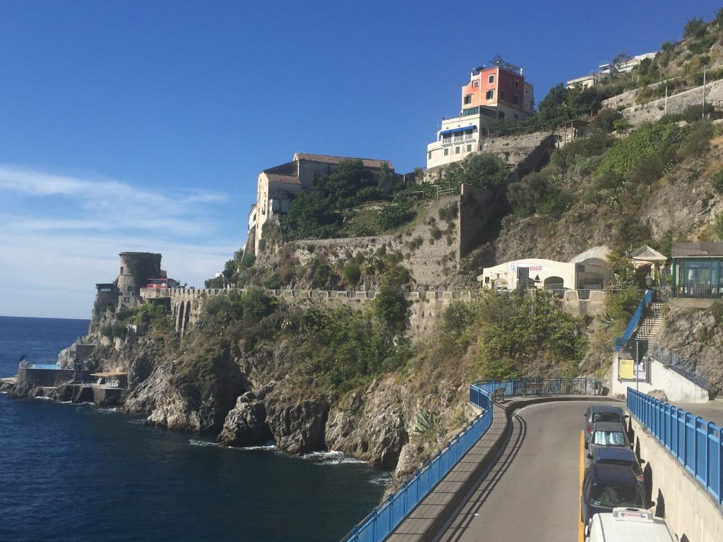 road between Atrani and Amalfi