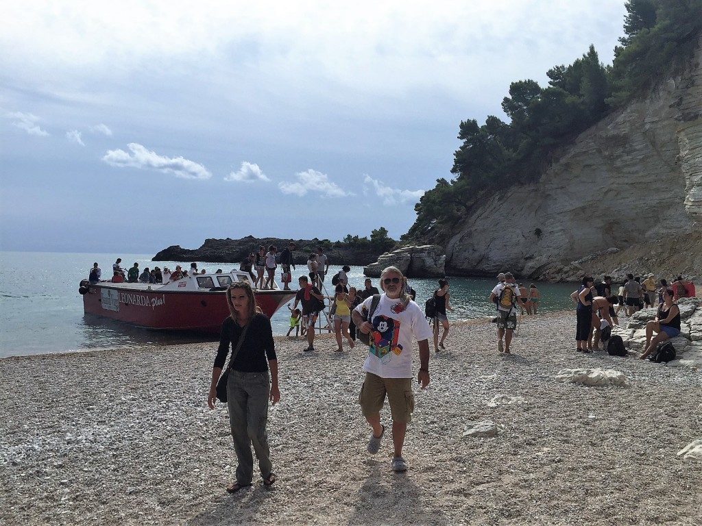 tourists, porto greco, puglia