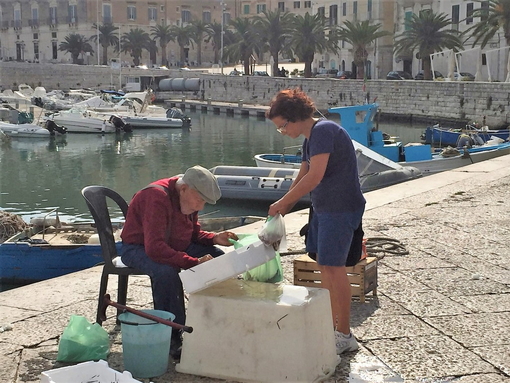 elderly fisherman in Trani