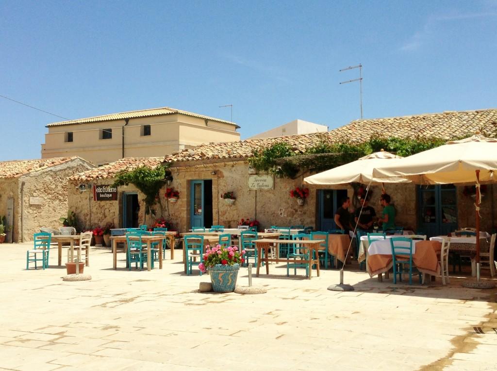 Piazza in Marzamemi Sicily