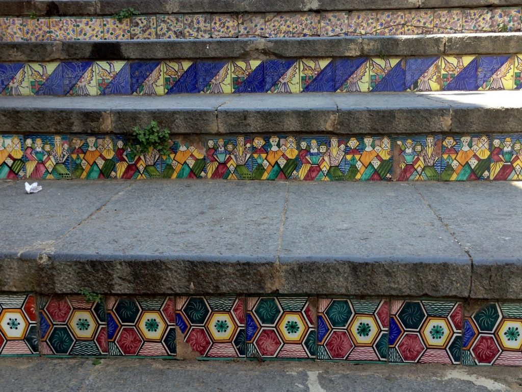 ceramic stair detail Caltigerone