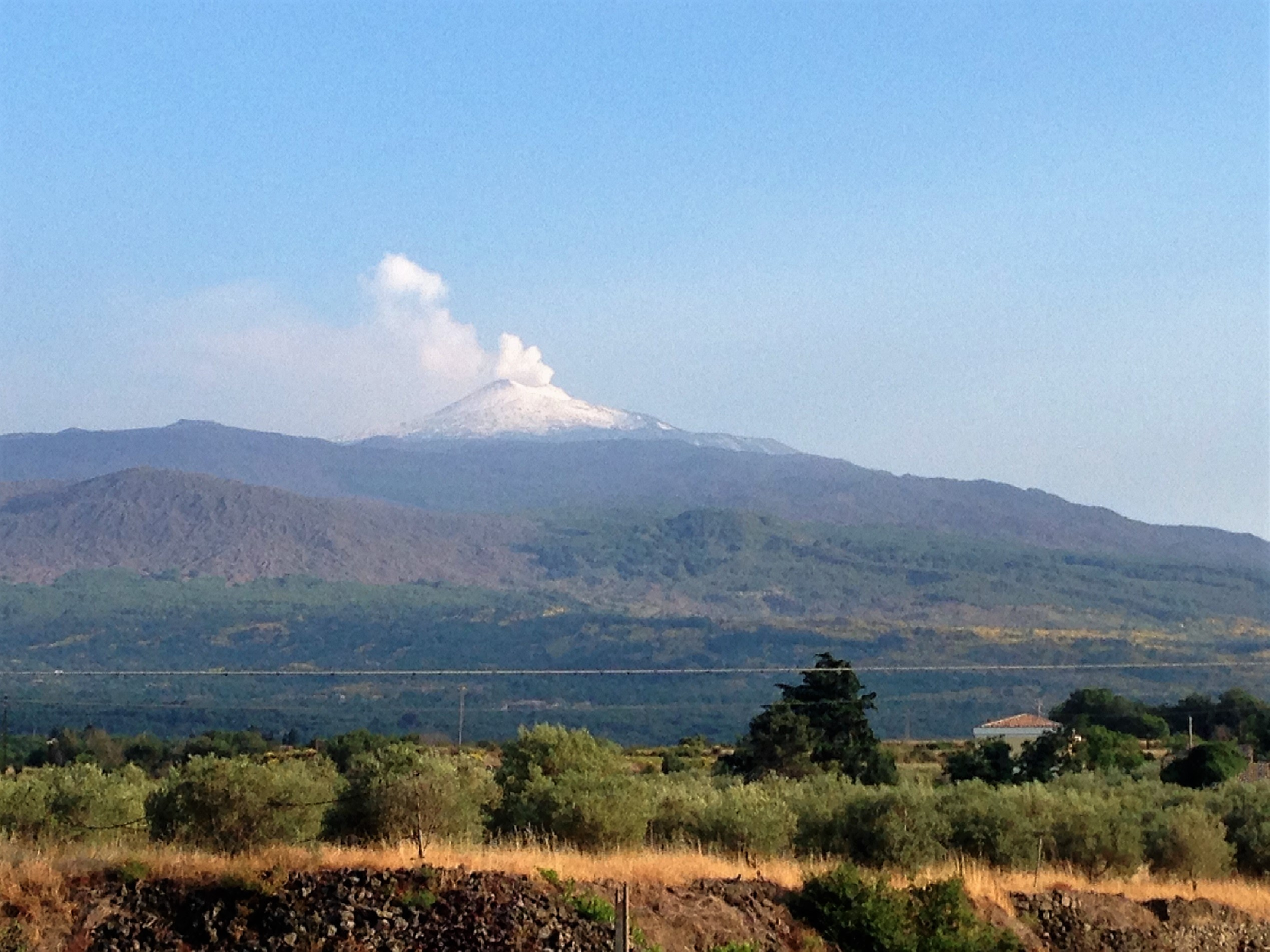 The other side of Mount Etna