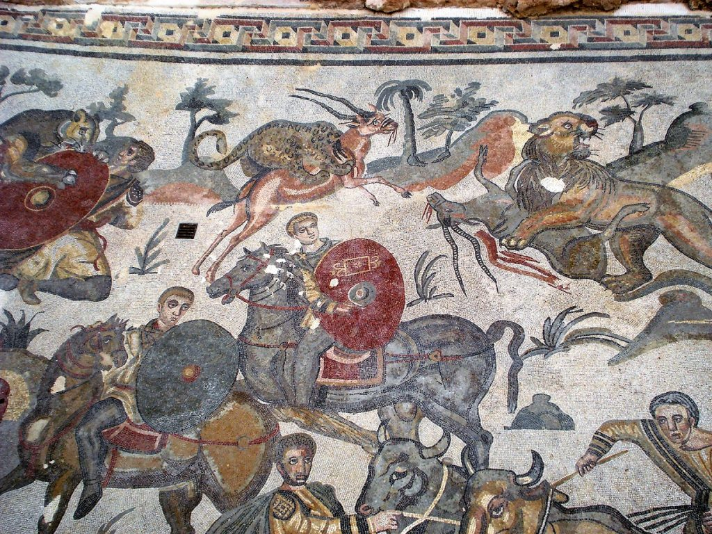 mosaics at villa romana del casale in sicily