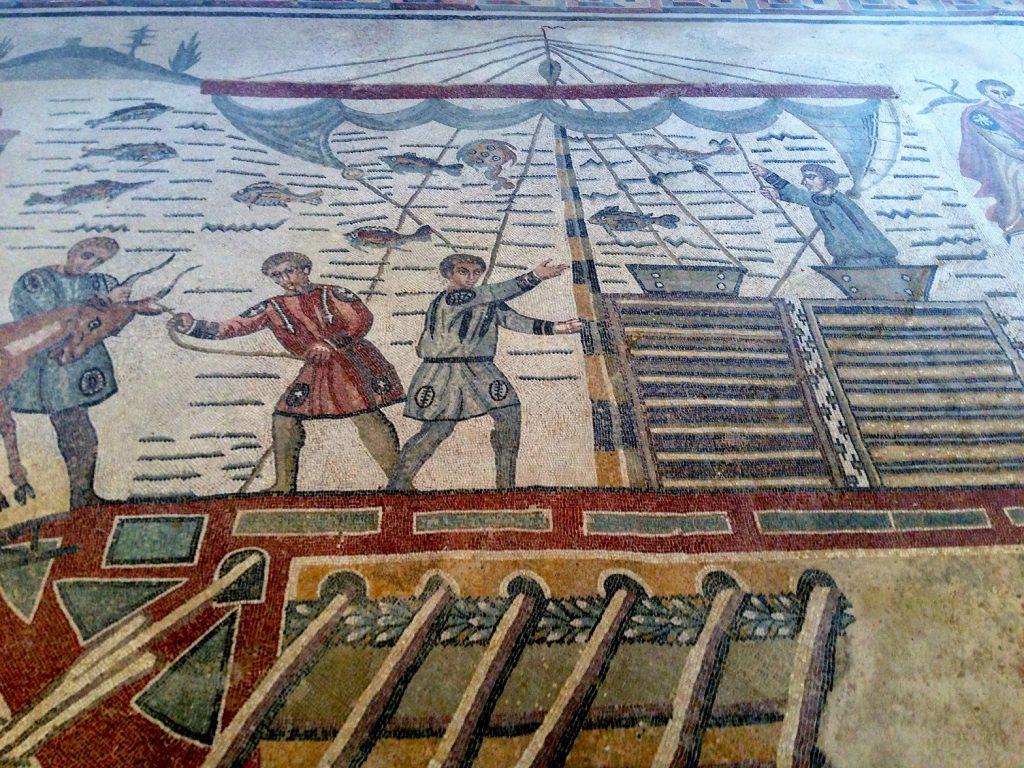 mosaics at villa romana del casale, sicily