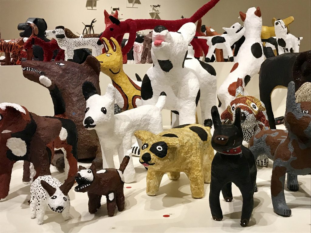 Big mob of dogs exhibition, Araluen arts centre Alice Springs