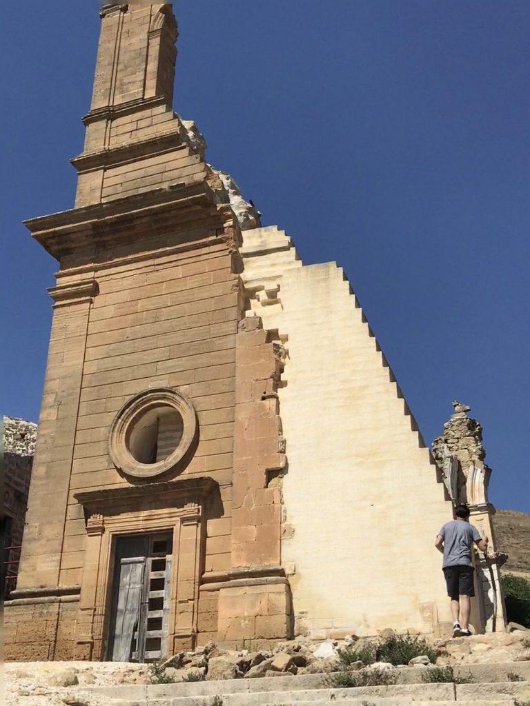 Destroyed church, Poggioreale vecchia, Sicily