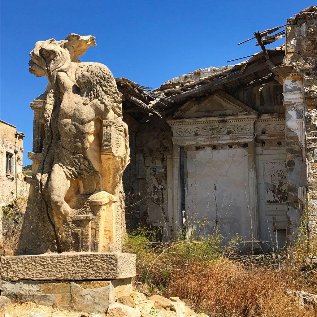 statue at Gibellina ruins, Sicily